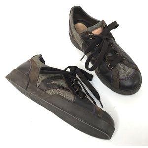 Louis Vutton Plaid Lace Up Casual shoes PARIS